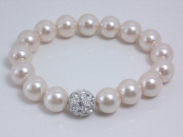 garlicfashion special elegant women fashion SOIREE pave bracelet white