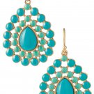 garlicfashion special elegant women fashion Charlize Teardrop turquoise earrings