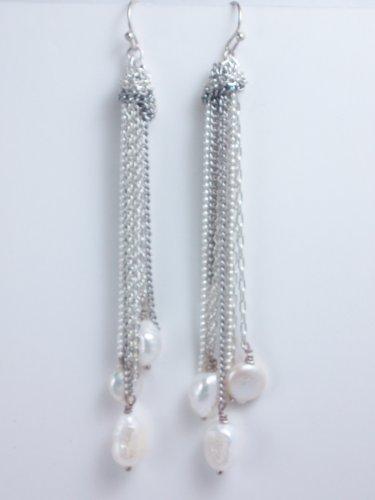 garlicfashion special elegant women fashion Josephine Cascade silver earrings