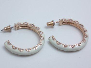 garlicfashion special elegant women fashion Solane hoop earrings RV39