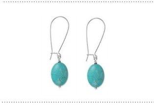 garlicfashion special elegant women fashion Seadrop torquoise earrings RV29