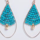 garlicfashion special elegant women fashion Goa turquoise pendant earrings