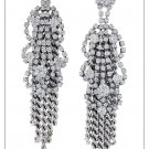"garlicfashion special elegant women fashion ""Petra"" silver Crystal Earrings"