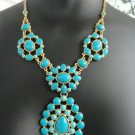 garlicfashion special elegant women fashion Charlize Teardrop turquoise necklace