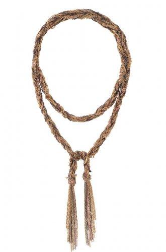 garlicfashion special elegant women fashion Adrienne mixed chain necklace Gold