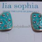 garlicfashion DIY handmade women fashion Blue crystal stud earrings