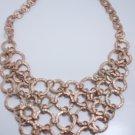 garlicfashion DIY handmade women fashion Kiam Family Lisa matte gold chain necklace