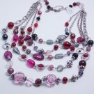garlicfashion DIY handmade women fashion Berrylicious multi-strand necklace Purple bead