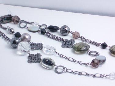 garlicfashion DIY handmade women fashion black shell long necklace