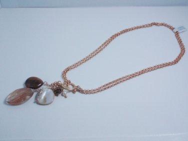 garlicfashion DIY handmade women fashion Meridian glass & resin green bead silver tone long necklace