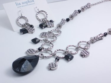garlicfashion DIY handmade women fashion Crosshatch necklace earrings set