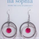 garlicfashion DIY handmade women fashion Raspberry Splash earrings
