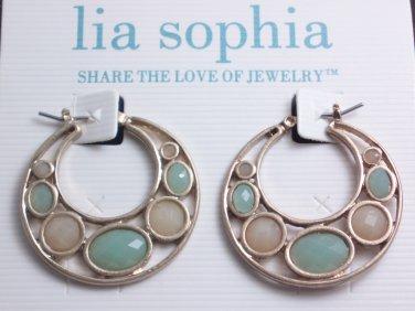 garlicfashion DIY handmade women fashion loop coral earrings