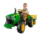 John Deere Ground Force Kid's Tractor with Trailer