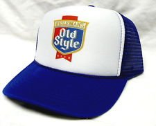 NEW! Vintage Style Old Style Beer Hat, Trucker, Mesh, Snap Back Hat-Royal
