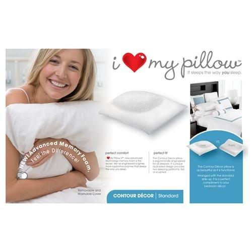NEW-PAIR! I Love My Pillow - Contour Decor Standard / Queen Pillow-94406