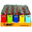 50 FIFTY MINI BIC DISPOSABLE LIGHTERS BULK-ASSORTED COLORS