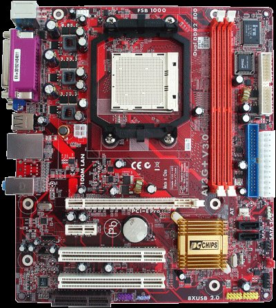 Pc Chips A13G, AM2, GF6100, DDR 800, PCI-E, SATA, MATX