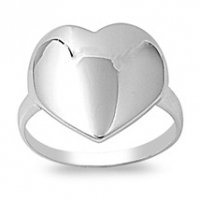 Big Heart Ring .925 sterling silver; Hand-crafted