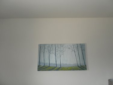 fall in forest painting