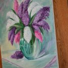 summery flower oil painting
