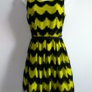 DARLING Lime and Black Sleeveless Summer Dress Size S New
