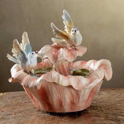 Bluebird and Flower Fountain
