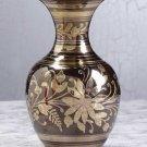 Brass with Pewter Flower Vase