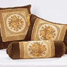 Brown Floral Cushions - 3 PC