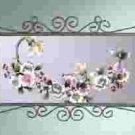 Purple Floral Wall Mirror