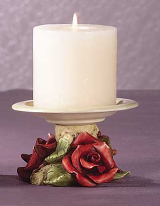 Red Roses Candle Holder