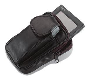 Genuine Leather Pouch with Cell Phone Holder