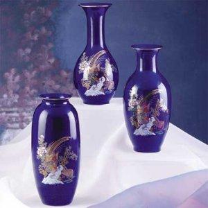 Cobalt Blue Vase Set-3 pc.
