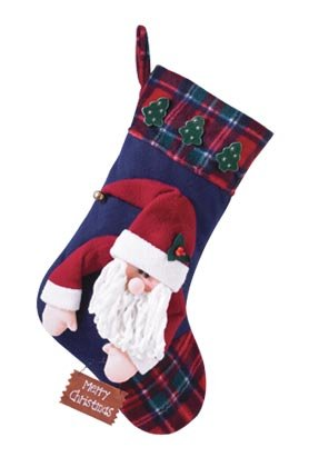 Plush Stocking-Santa