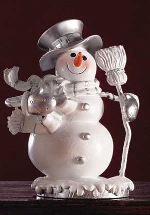 Snowman with Tophat and Broom