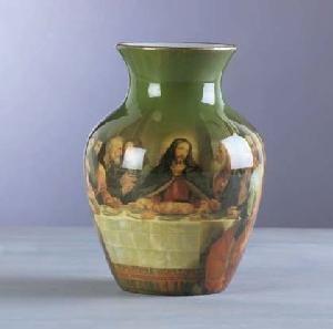 Porcelain Vase  The Last Supper
