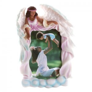 African American Angel Photo Frame
