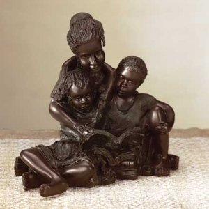 African American Mother and Kids