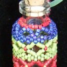 Multicolor Beaded Bottle w/ cork ~ Necklace