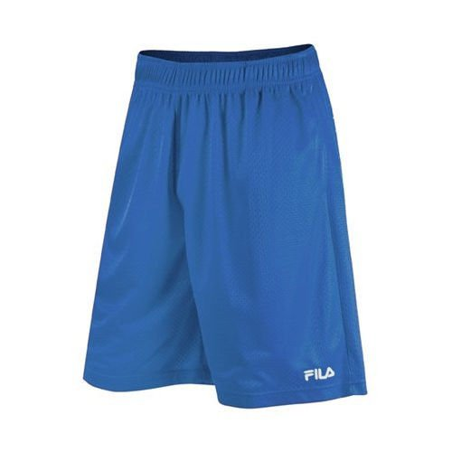 Fila Men's Solid Mesh Athletic Training Shorts, Blue Large