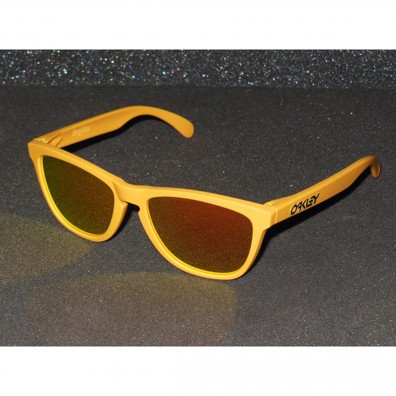 Oakley Frogskins Retro Sunglasses Summit Edition Pike's Gold/Fire Iridium