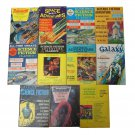 11 Science Fiction Pulp Magazine Lot Adventure Classics/Galaxy/Worlds of Tommorow/Space Adventures