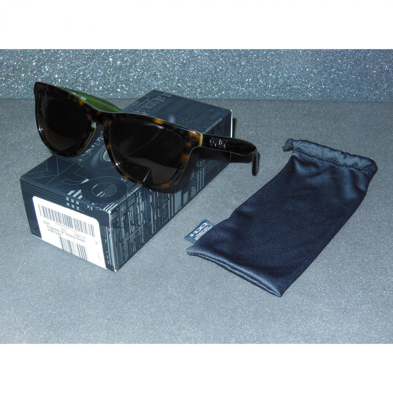 Oakley Frogskins LX Sunglasses Tortoise Green/Dark Grey