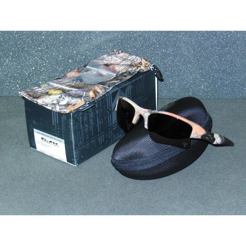 Oakley Flak Jacket XLJ Sunglasses King's Woodland Camo/Warm Grey