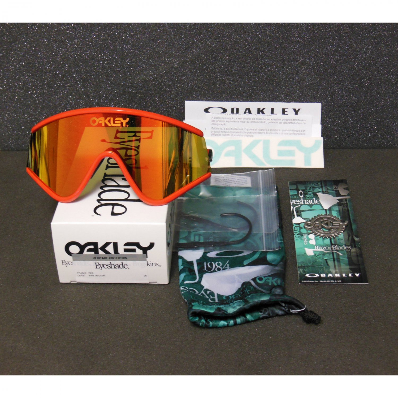 New Second-Grade* Oakley Eyeshade Heritage Collection Retro Sunglasses, Red/Fire Iridium