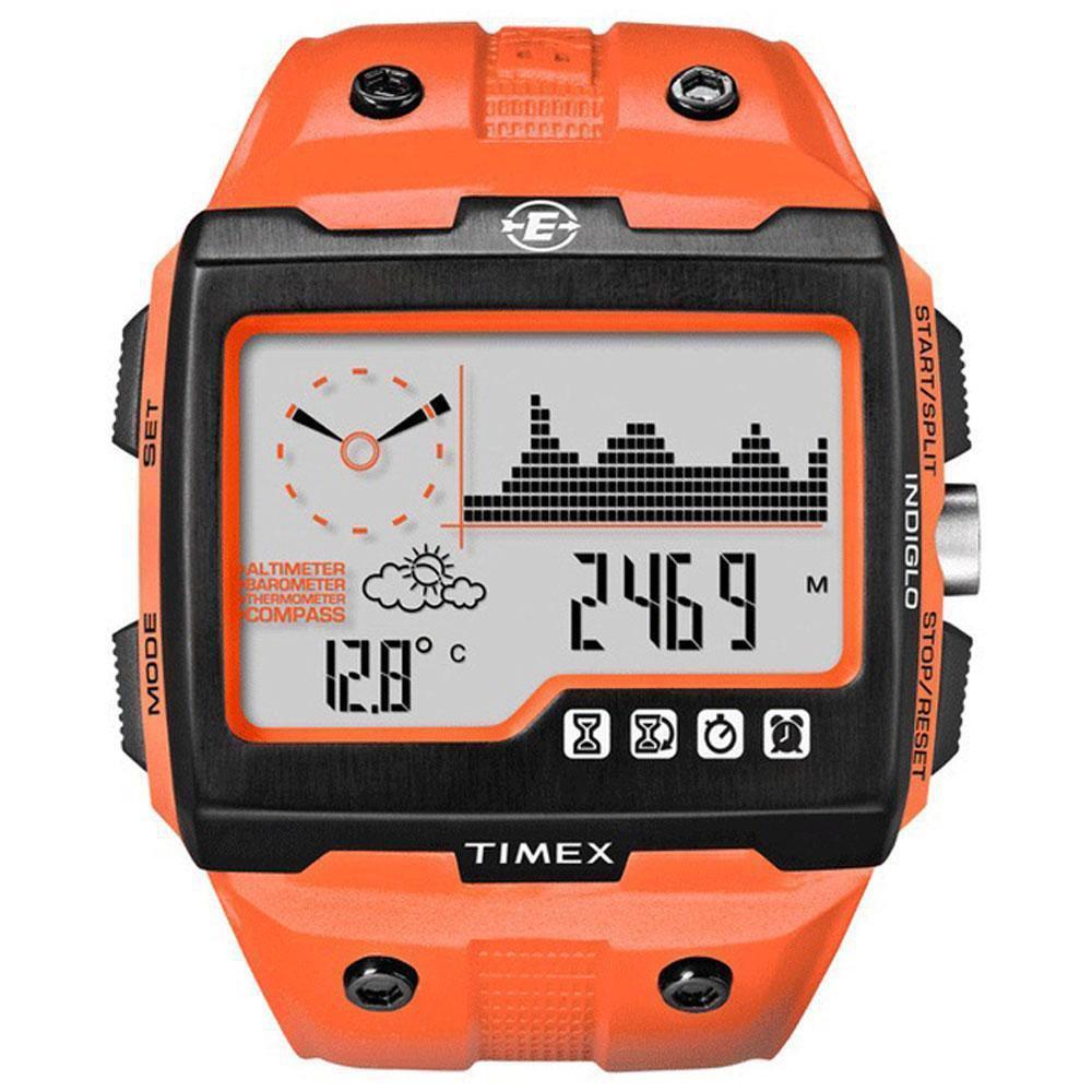 Timex Expedition WS4 Watch T49761 Orange Altimeter Compass Barometer