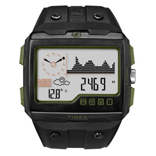 Timex Expedition WS4 Watch T49664 Black/Green Altimeter Compass Barometer