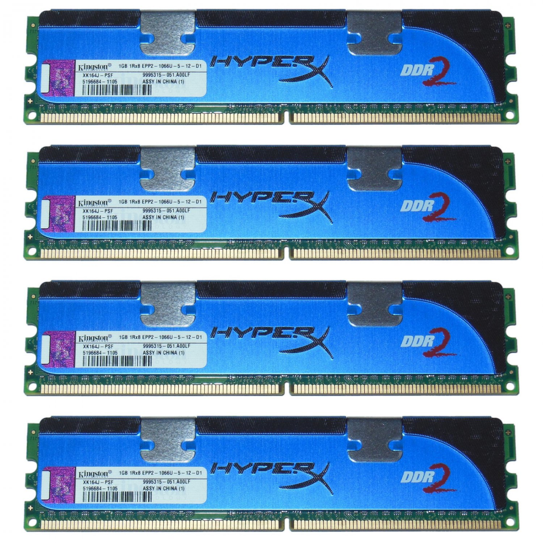 OEM Kingston HyperX XK164J-PSF 4GB (1x4) 1066Mhz DDR2 RAM PC2-8500U 240-Pin