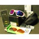 Oakley Racing Jacket Tour de France Sunglasses Polished White/Positive Red Iridium Vented+VR28 Black