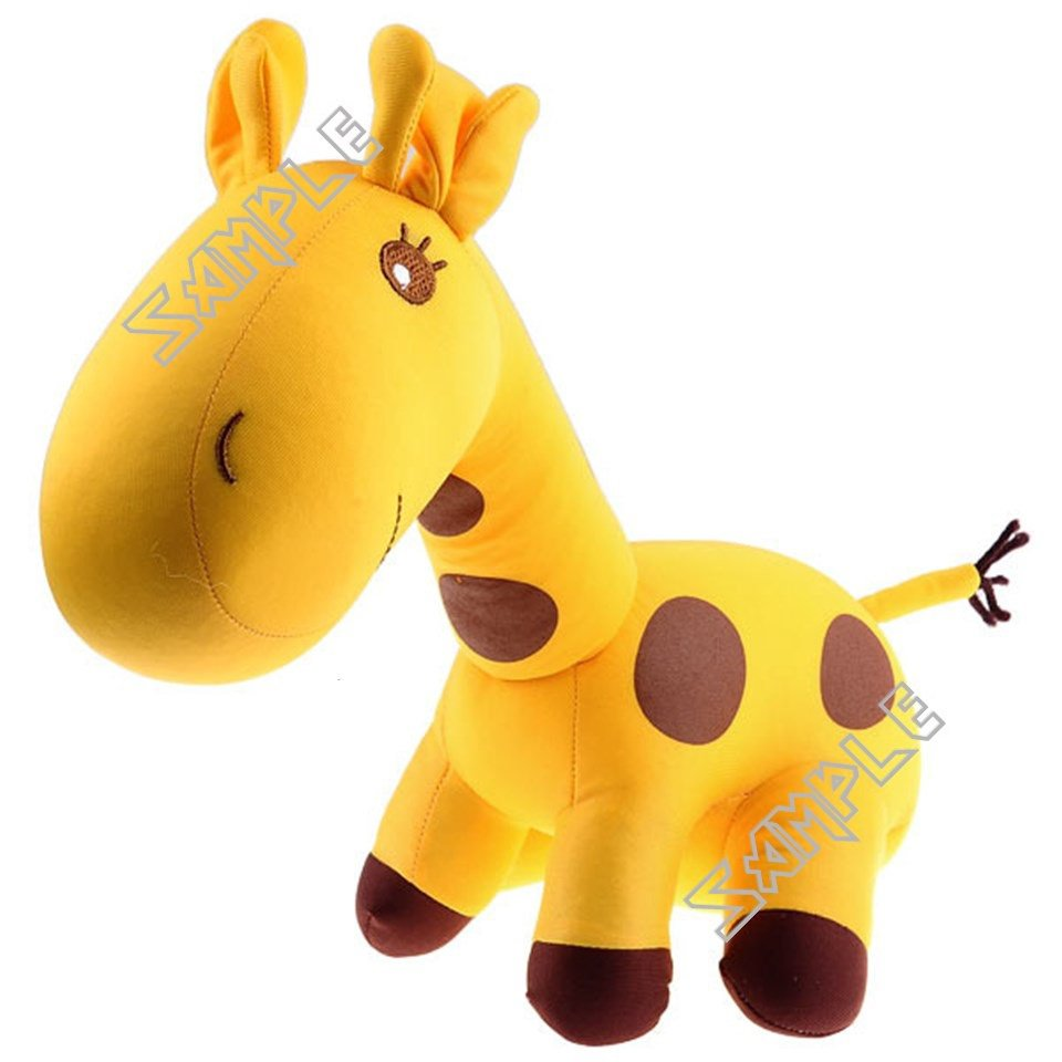 Giraffe Shaped Doll Toy Plaything Desktop Display for Collection Decoration